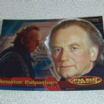 Star Wars Evolution topps 2001 Senator Palpatine Foil card (3)